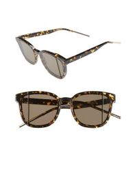 389cb302548b Lyst - Dior Steps 55mm Sunglasses - Havana  Rose in Brown