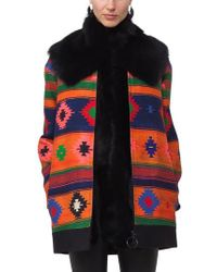 Akris Punto   Black Genuine Lamb Fur Scarf   Lyst
