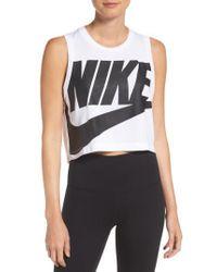 Nike - Black Sportswear Essential Crop Tee - Lyst
