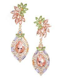Adia Kibur | Multicolor Crystal Clip-on Earrings | Lyst