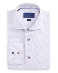 David Donahue | Purple Trim Fit Solid Dress Shirt for Men | Lyst