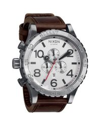 Nixon | Brown 'the 51-30 Chrono' Watch for Men | Lyst