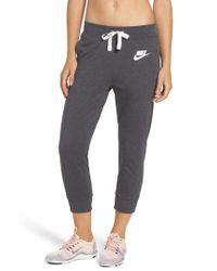 Nike - Black Sportswear Gym Capris - Lyst