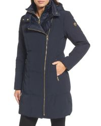 Vince Camuto - Blue Down & Feather Fill Coat - Lyst