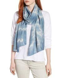 Eileen Fisher - Blue Tie Dye Silk Scarf - Lyst