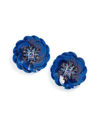 Kate Spade - Blue Snowy Nights Sequin Statement Earrings - Lyst