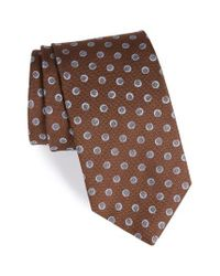David Donahue | Brown Dot Silk Tie for Men | Lyst