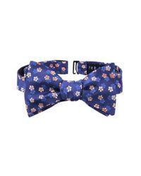 Ted Baker - Orange Floral Silk Bow Tie for Men - Lyst