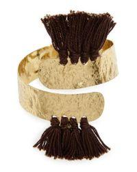 Nakamol | Gray Aiu Hammered Tassel Cuff Bracelet | Lyst