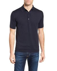 John Smedley - Blue Jersey Polo for Men - Lyst