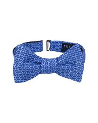 Ted Baker - Blue Charming Abstract Silk Bow Tie for Men - Lyst