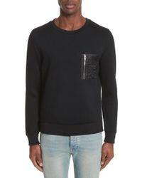 The Kooples - Black Fleece Sweatshirt for Men - Lyst