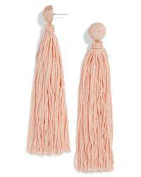 BaubleBar - Pink Valencia Shoulder Duster Tassel Earrings - Lyst