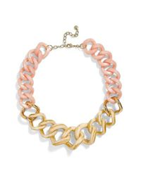 BaubleBar - Metallic Francina Large Acrylic Link Necklace - Lyst