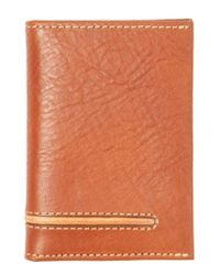 Tommy Bahama - Brown Leather Money Clip Card Case for Men - Lyst