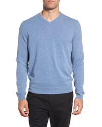 Nordstrom - Gray Cashmere V-neck Sweater for Men - Lyst