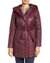 Cole Haan - Purple 'thermore' Water Repellent Quilted Coat - Lyst