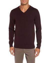 Bonobos | Purple Merino V-neck Sweater for Men | Lyst