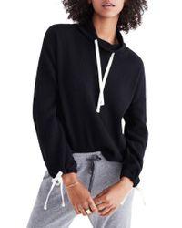 Madewell - Black Funnel Neck Tie Sleeve Sweatshirt - Lyst