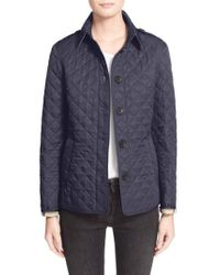 Burberry - Gray Ashurst Quilted Shell Jacket - Lyst