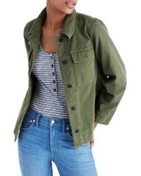 Madewell - Green Northward Crop Army Jacket - Lyst