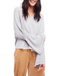 Free People - Gray Dahlia Thermal Top - Lyst