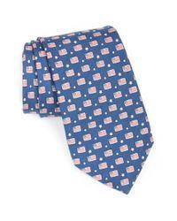 Vineyard Vines - Blue Flag Print Tie for Men - Lyst