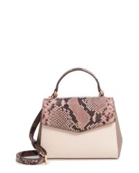 Tory Burch - Multicolor Robinson Snake Embossed Small Leather Satchel - Lyst