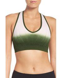 Climawear - Green 'beyond The Horizon' Racerback Sports Bra - Lyst