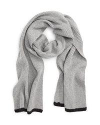 Rag & Bone | Gray Ace Rib Knit Cashmere Scarf for Men | Lyst