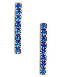 Loren Hope - Blue Paige Bar Stud Earrings - Lyst