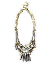 BaubleBar - Blue Imelda Bib Necklace - Lyst