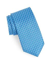Calibrate - Blue Denberg Check Silk Tie for Men - Lyst