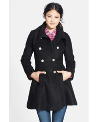 Guess | Black Women'S Double Breasted Boucle Coat | Lyst