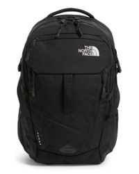 The North Face - Black 'surge' Backpack for Men - Lyst