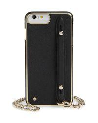Kate Spade - Black Hand Strap Iphone 7/8 Plus Crossbody Case - - Lyst