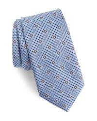 Nordstrom - Blue Textured Floral Silk Tie for Men - Lyst