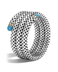 John Hardy - Metallic Dot Triple Coil Bracelet - Lyst
