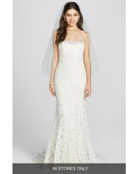 Amsale - Multicolor 'carter' French Alecon Lace Gown - Lyst