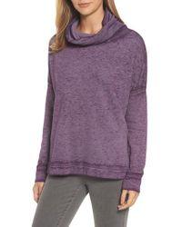 Caslon - Purple Caslon Burnout Back Pleat Sweatshirt - Lyst
