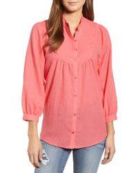 Caslon - Pink Caslon Curved Yoke Dobby Shirt - Lyst