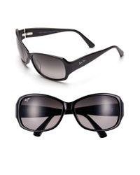 Maui Jim - Nalani 61mm Polarizedplus2 Sunglasses - Gloss Black - Lyst