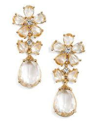 Kate Spade | Metallic In Full Bloom Cluster Drop Earrings | Lyst