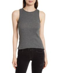 Vince | Gray High Neck Tank | Lyst
