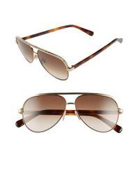 Jimmy Choo - Pink 'linas' 59mm Aviator Sunglasses - Lyst