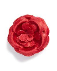 Hook + Albert - Red Lapel Flower - Lyst
