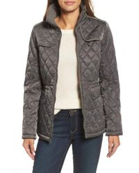 Vince Camuto | Multicolor Mixed Media Quilted Jacket | Lyst