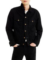 J.Crew - Black Regular Fit Denim Jacket for Men - Lyst
