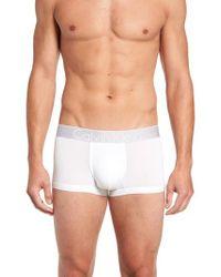 Calvin Klein - White Stretch Low Rise Trunks for Men - Lyst