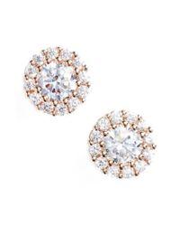 Nordstrom - Metallic Precious Metal Plated 0.50ct Tw Cubic Zirconia Stud Earrings - Lyst